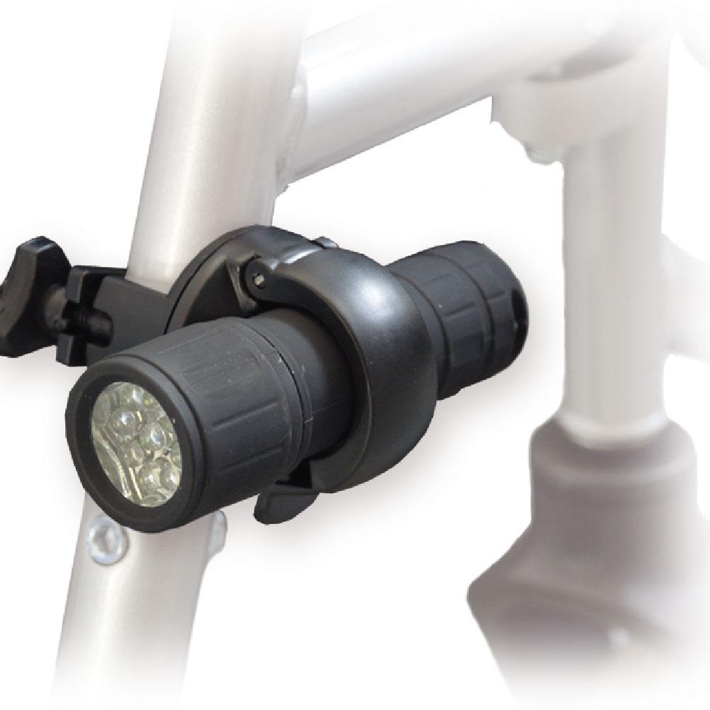 MPB Universal Rollatorlampe LED, passend für 85 % aller Rollatoren und Rollstühle