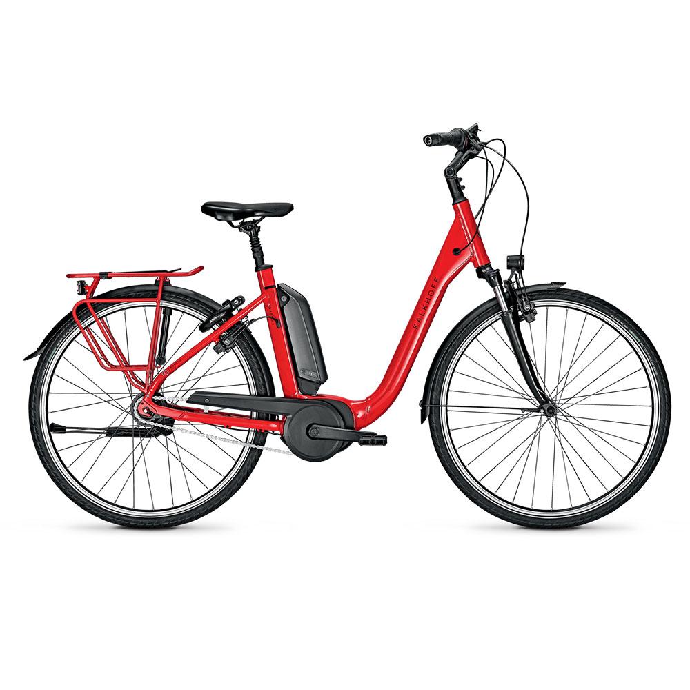 Kalkhoff E-Bike Agattu 1.B Advance in Rot mit Comforteinstieg