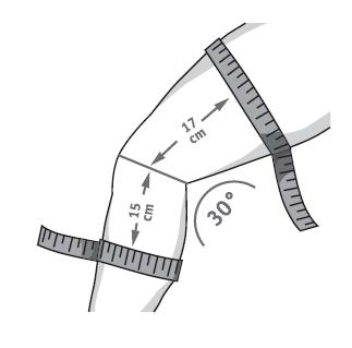 So messen Sie Ihre Genutrain Kniebandage P3