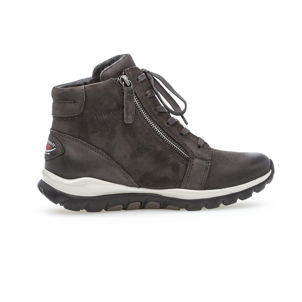 Gabor Rollingsoft sensitive High Top Sneaker Dark Grey - Innenseite mit Reißverschluss