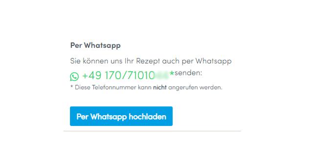 Senden Sie uns Ihr Rezept zur Bearbeitung gerne auch per WhatsApp zu