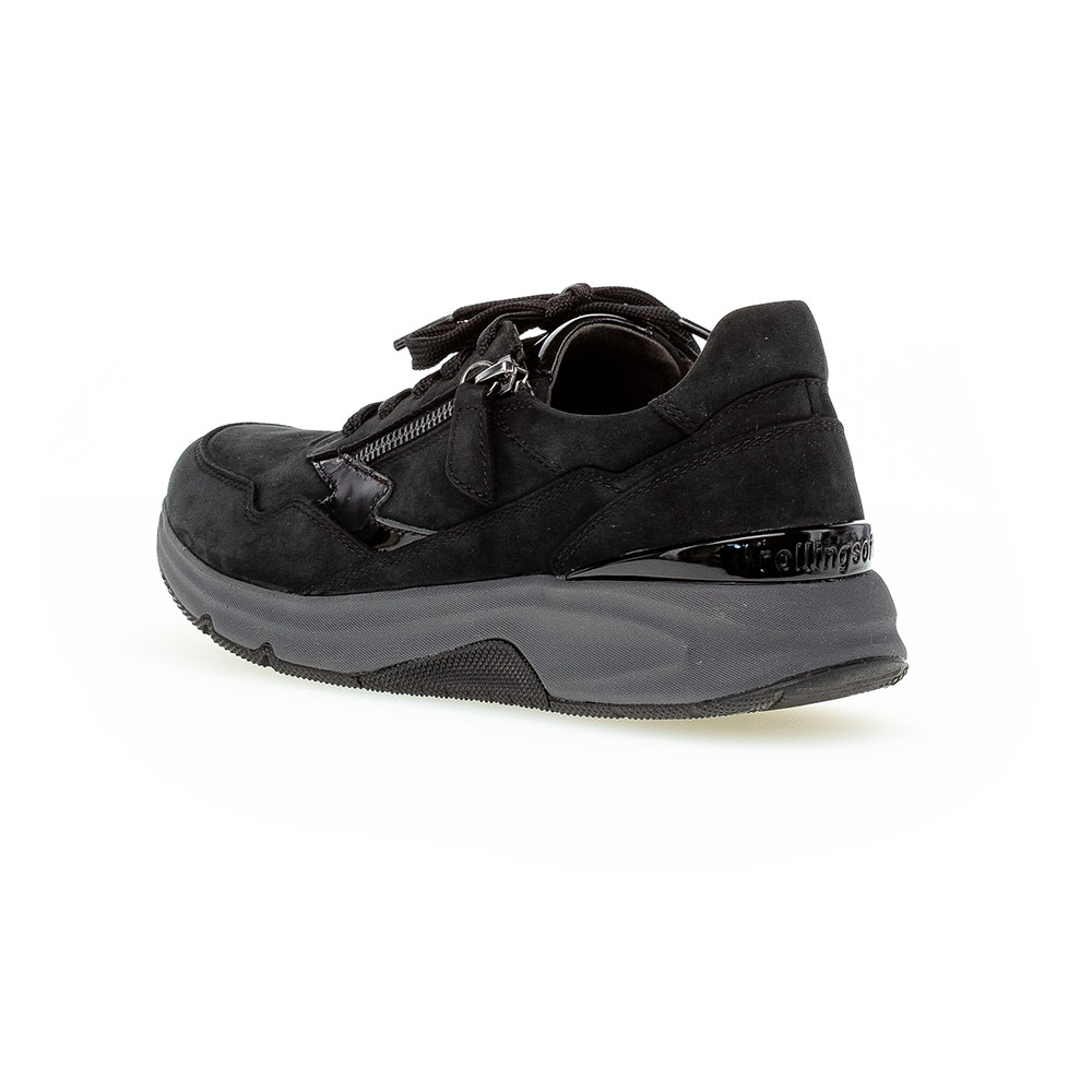 Gabor Rollingsoft Sneaker in Schwarz - Rückansicht