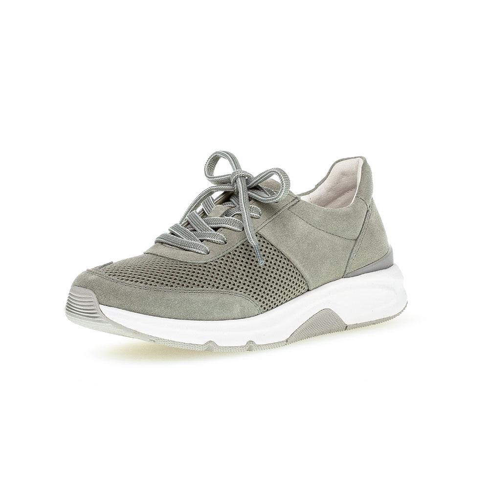 Gabor Rollingsoft Sneaker für Damen in Grün - Frontansicht