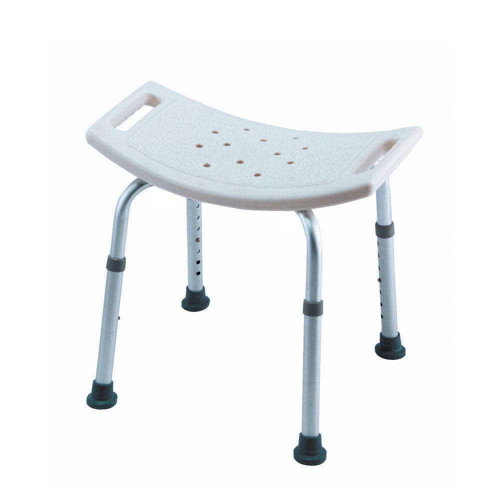 Invacare CADIZ H291 Duschhocker in weiß mit seitlichen Haltegriffen und konkav geformter Sitzfläche