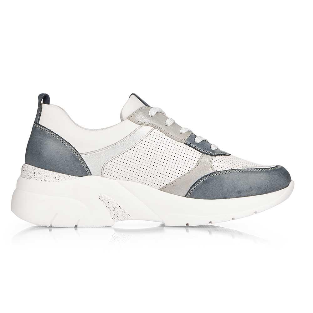 Remonte Damen Soft Sneaker White-Grey - Schuhinnenseite
