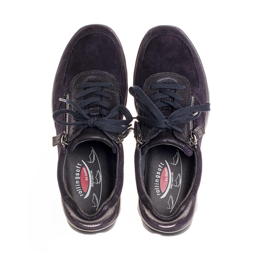 Gabor Sneaker Rollingsoft sensitive Pazifik - Ansicht Paar von oben