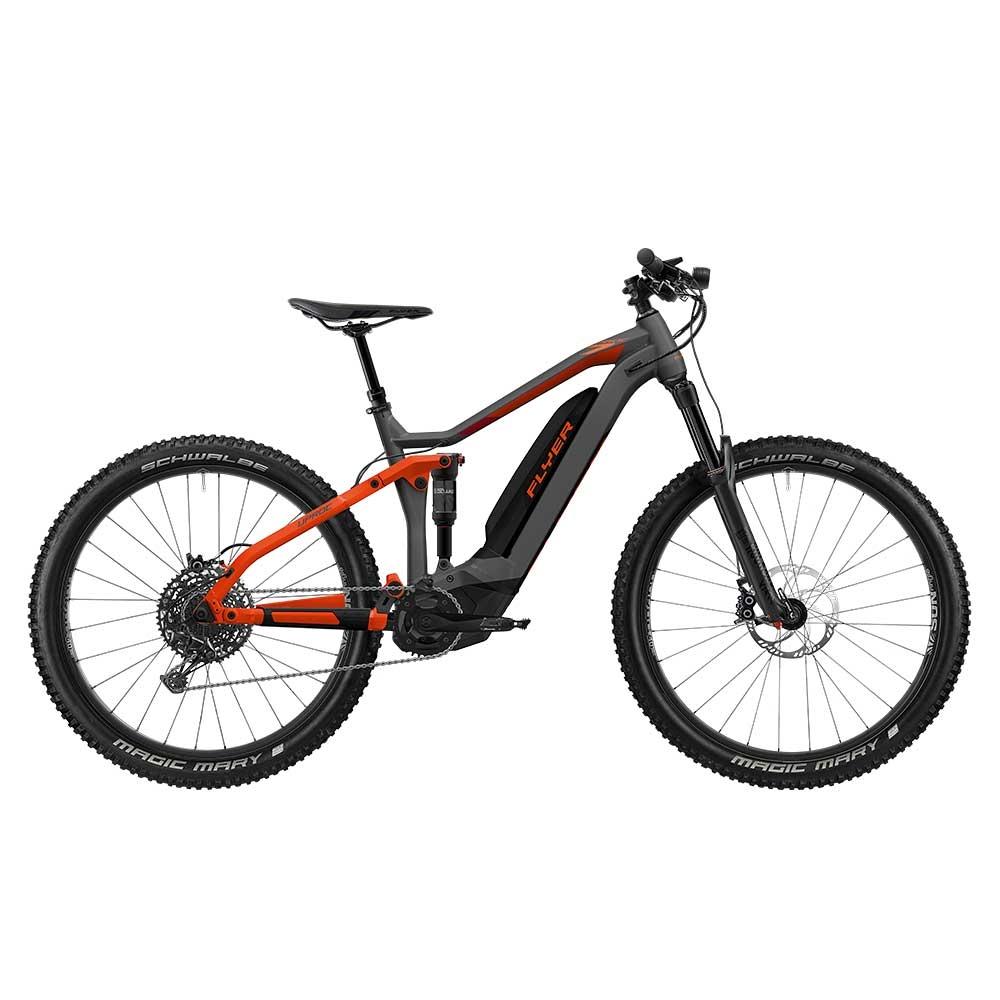 rot| E-Bike FLYER Uproc7 6.50 in Anthrazite / Red Matt