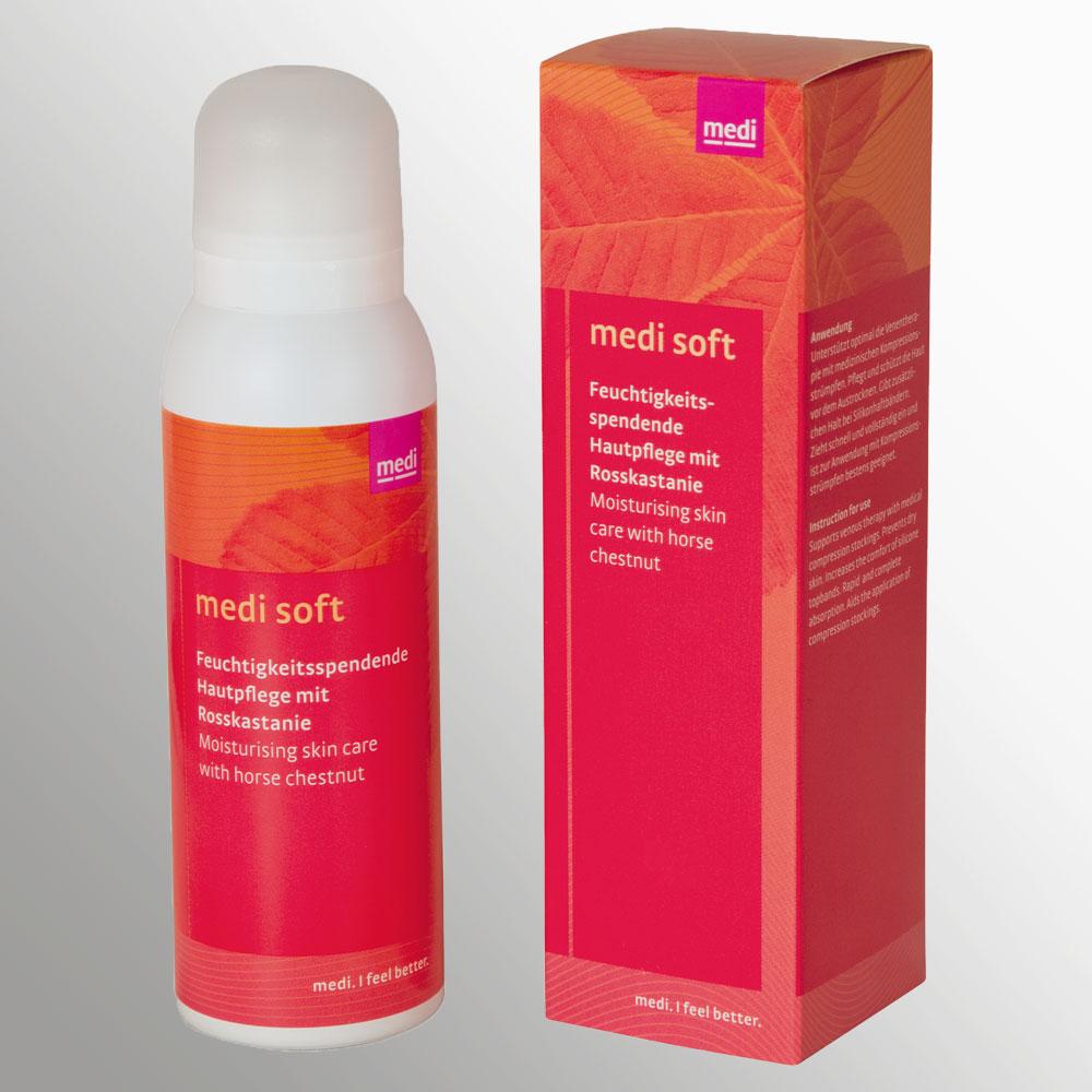 Quelle: www.medi.de | medi soft - Sanfter Pflegeschaum für die Versorgung der Füße mit Feuchtigkeit