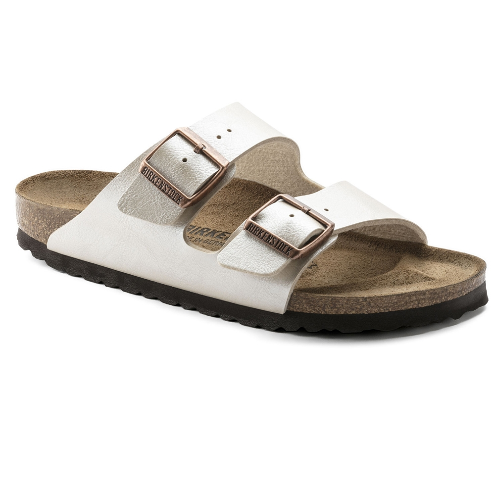 perlweiss| Birkenstock Pantolette Arizona in Graceful Perl White
