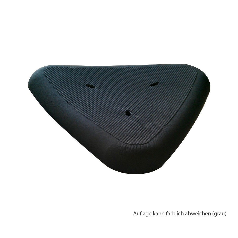Mobilex Sitzauflage für AQUA Duschhocker dreiekig, Farbe: Grau