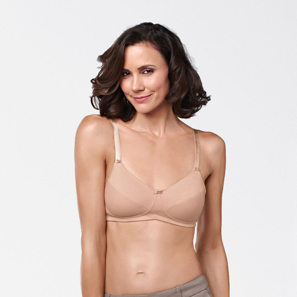 Amoena Ruth SB, leichter Prothesen-BH aus 100 % Baumwolle, Farbe: nude