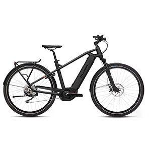 schwarz  FLYER E-Bike Upstreet 4 7.10, Tourenbike mit Herrenrahmen in Schwarz