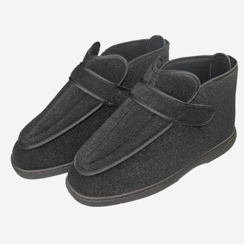 Werkmeister Wewa® Ped Therapieschuhe hoch, sehr bequeme Schuhe, knöchelhoch, weit zu öffnen, Klettverschlüsse und Innenschuhbereich komplett ohne Naht, Farbe: Schwarz
