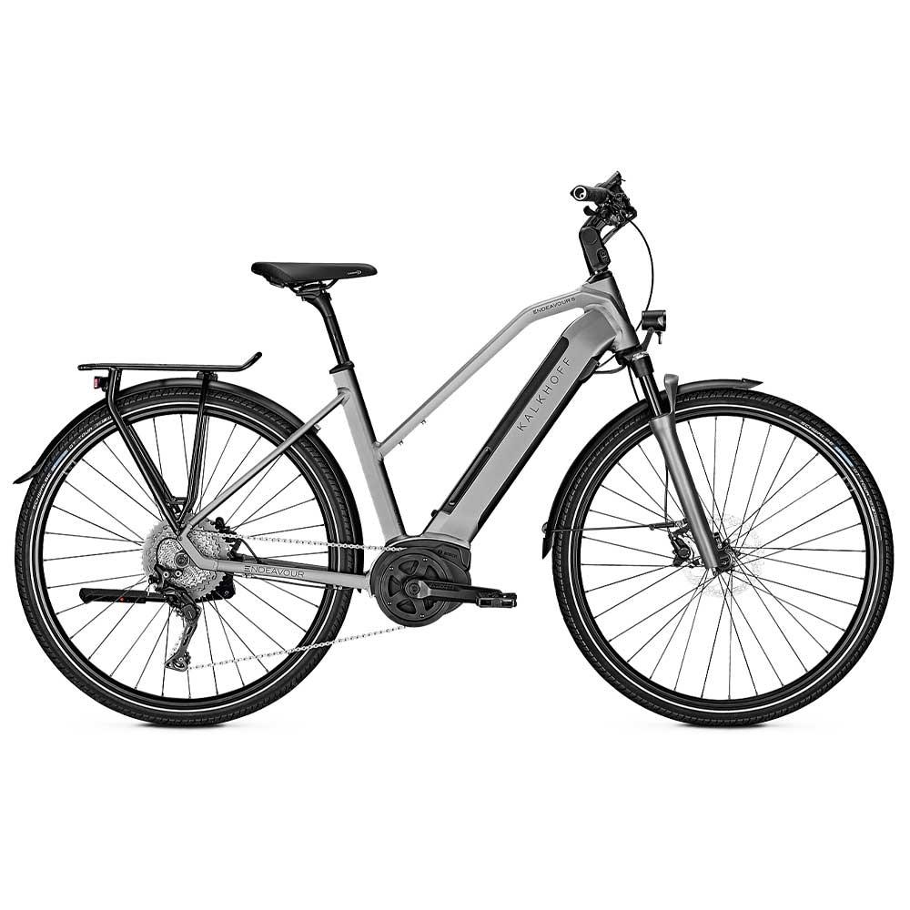 grau| Kalkhoff E-Bike Endeavour 5.B Advance, Unisex Trapezrahmen in Grey