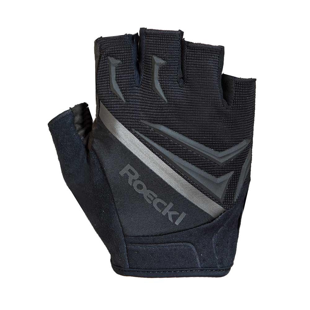 black| Roeckl ISAR Sport Kurzfingerhandschuhe in Schwarz