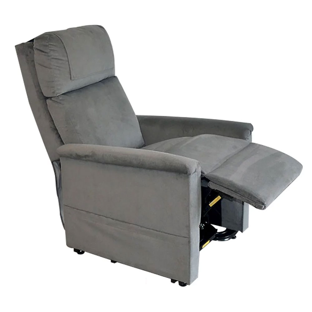 Grau-Soft-Touch| GOLDEN Moderner Komfort Sessel 2 Motoren