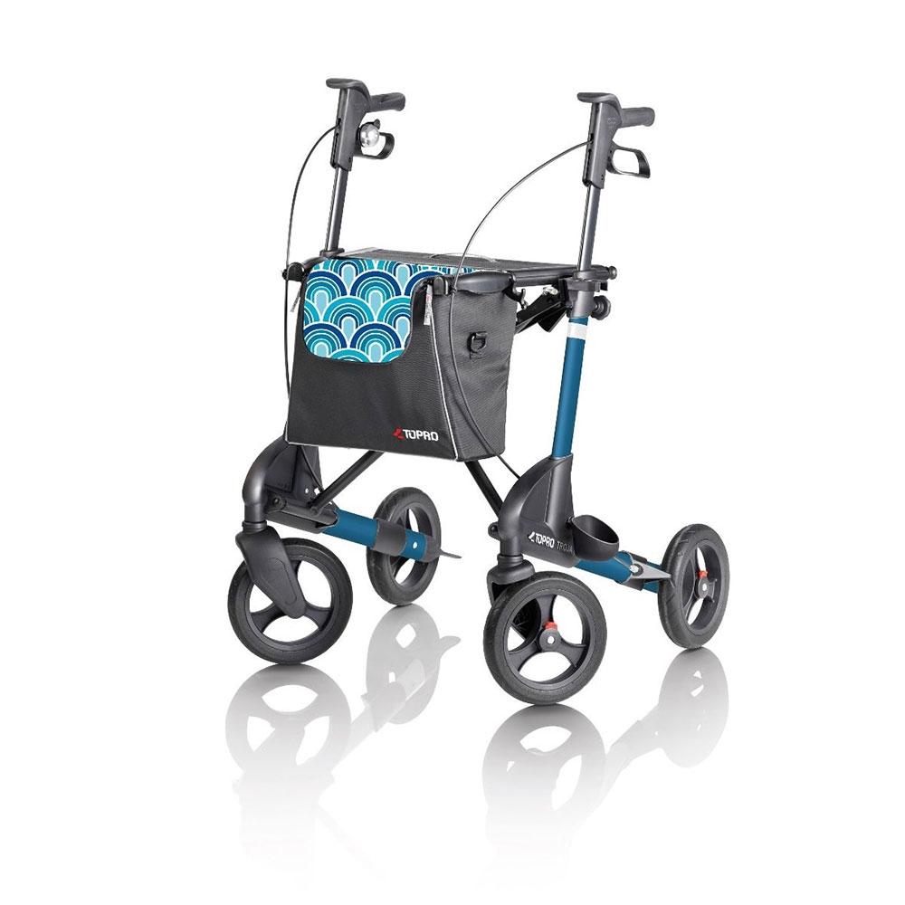Capri-Blau  Topro Rollator Troja 2G Premium, Farbe: Capri Blau
