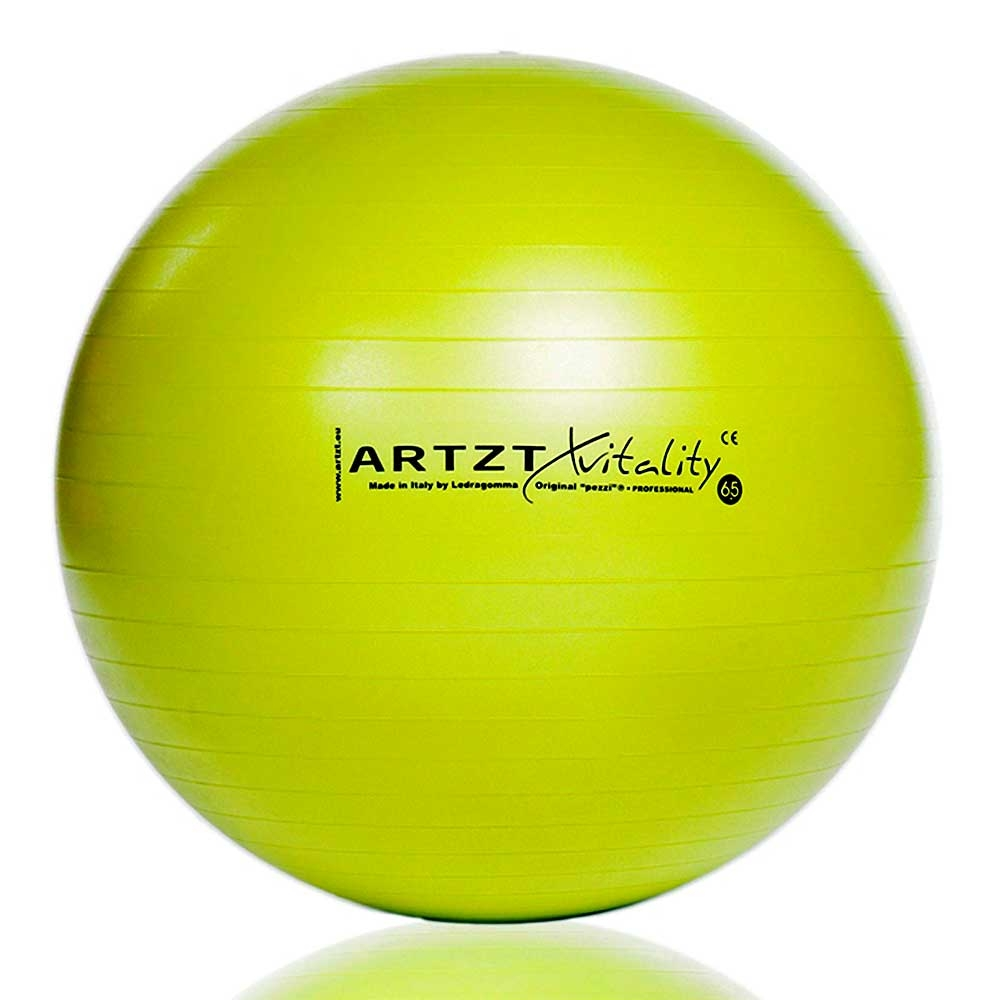 Gruen-65cm| ARTZT vitality Fitnessball Professional Größe 65 cm, Farbe Grün