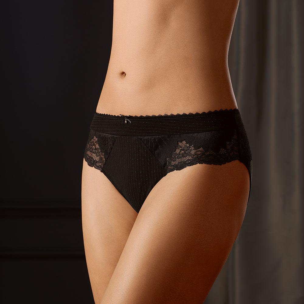 Amoena Aurelie Panty, Farbe: Schwarz mit Spitze an den Seiten