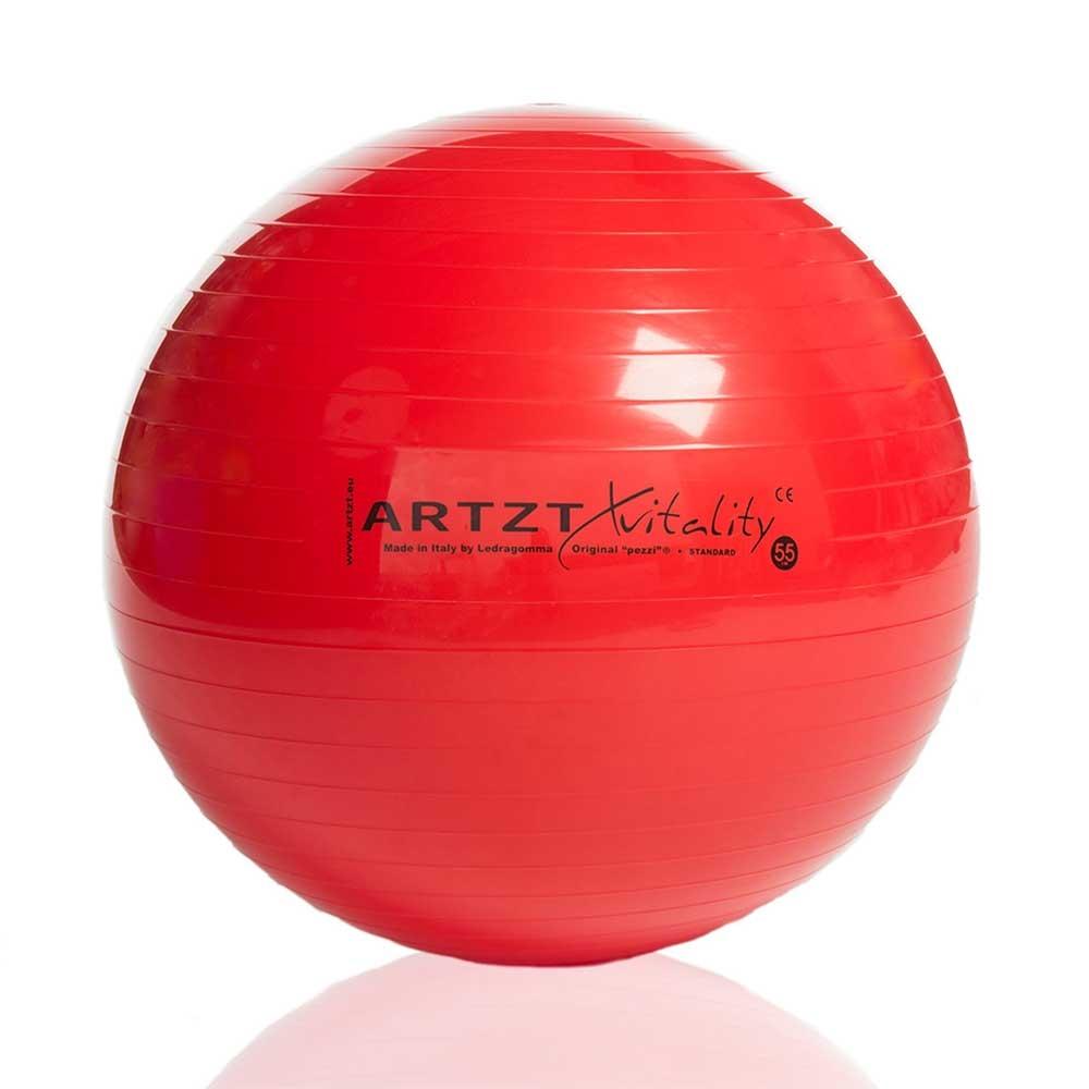 Rot-55cm| ARTZT vitality Gymnastikball Standard, Größe 55 cm, Farbe: Rot