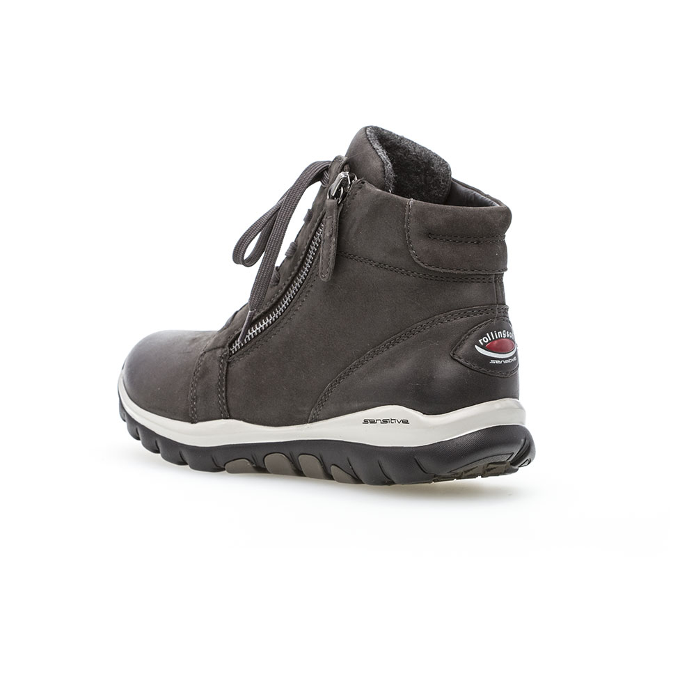 Gabor Rollingsoft sensitive High Top Sneaker  Dark Grey -  Fersenbereich mit Logo