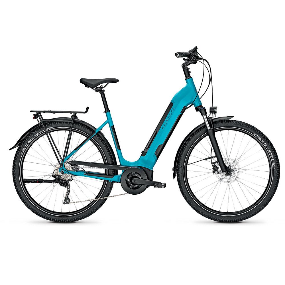Kalkhoff E-Bike Entice 3B Advance  Herrenrahmen Waverahmen in Blau