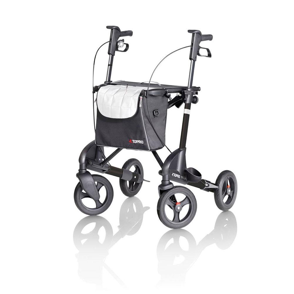 Schwarz  Topro Rollator Troja 2G Premium, Farbe: Schwarz matt