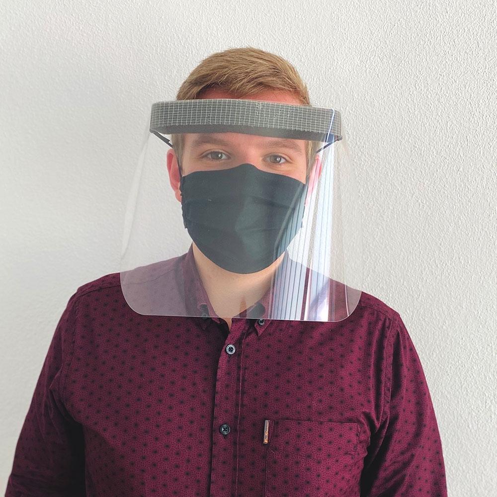 Gesichtsschutz aus leichtem Kunststoff