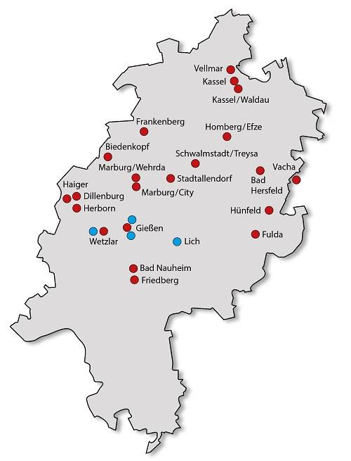Erhalten Sie einen Überblick über alle Kaphingst + ORS Standorte